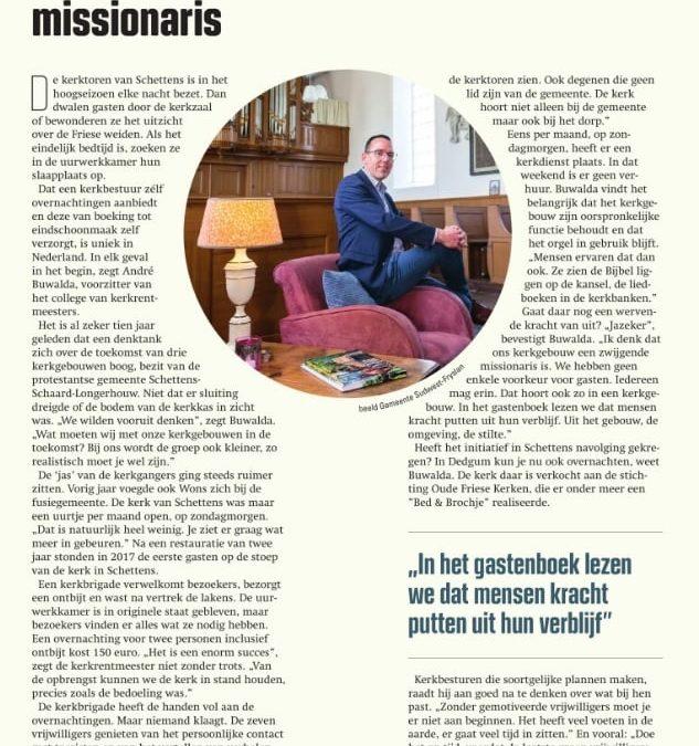 Kerkovernachting in Reformatorisch Dagblad